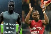 Drogba gặp rắc rối vì tưởng nhớ ông Mandela không đúng cách