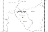 Động đất 2,8 độ Richter tại Quảng Ngãi