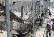 Sập dầm ngang chợ Mũi Né, 2 công nhân bị thương