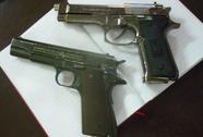 Kiểm tra hành chính phát hiện súng ngắn
