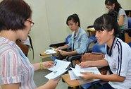 Hơn 74% thí sinh làm thủ tục thi đại học