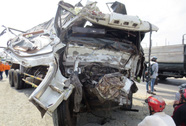 Xe khách tông xe tải, 15 người bị thương