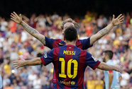 Neymar lập hat-trick, Barca trở lại ngôi đầu bảng