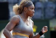 Venus chia tay, Serena khởi đầu thuận lợi ở Rome Open