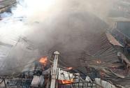 Hà Nội: Cháy lớn tại một xưởng gỗ