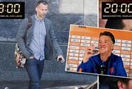 Ông Van Gaal gặp riêng Giggs trước giờ ra mắt M.U