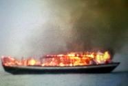Cháy tàu du lịch khi đang chạy thử