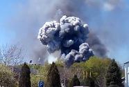 Sân bay ở Đông Ukraine rung chuyển vì nổ