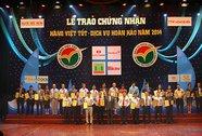 """Techcombank vào top 10 """" Hàng Việt tốt-Dịch vụ hoàn hảo 2014"""""""