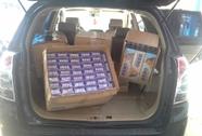 Bắt giữ xe chở 4.500 gói thuốc lá nhập lậu