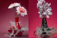 """Ngắm """"vẻ đẹp"""" của bình hoa bị vỡ"""