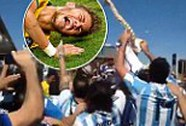Ăn mừng với xương sống gãy chọc tức Neymar