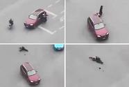 Bị nhắc nhở, tài xế ô tô cán chết cảnh sát giao thông