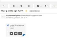 Cẩn thận mã độc trong email giả mạo cơ quan trung ương
