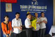 Thành lập Công đoàn tại doanh nghiệp từ 20 lao động trở lên