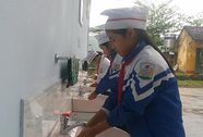 Trao nhà vệ sinh, bồn rửa tay tại 4 tỉnh