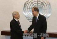 Tổng Bí thư và Tổng Thư ký Ban Ki-moon trao đổi về Biển Đông