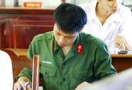Thông báo môn thi xét tuyển vào các trường quân đội