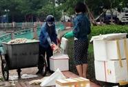 Nghi đôi nam nữ đóng thùng xốp đưa cá chết hồ Tây đi tiêu thụ