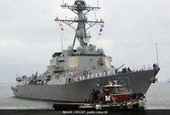 """Tàu chiến Mỹ suýt """"ăn"""" tên lửa ở Yemen"""