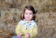 Hình ảnh mới nhất của tiểu công chúa Anh lộ rõ gen Hoàng gia