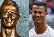Chết cười với bức tượng Ronaldo ở sân bay cùng tên