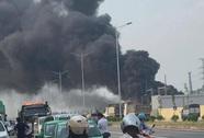Cháy lớn trạm biến áp 110 KV gần công ty Samsung Thái Nguyên