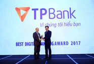 """TPBank được bình chọn giải """"Ngân hàng số xuất sắc nhất 2017"""""""