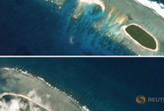 Hình ảnh vệ tinh tố Trung Quốc ngang ngược xây mới ở Hoàng Sa