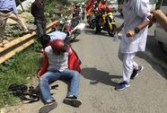 1 phóng viên bị tai nạn, phương tiện hành nghề hỏng nặng