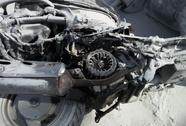 Kinh hoảng xe máy tông nhau rồi bốc cháy