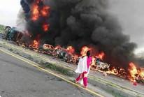 Lật xe chở dầu, 148 người chết cháy