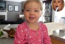 Bé 2 tuổi gây sốt khi hát ca khúc của Adele