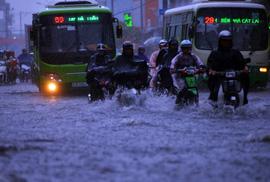 Chiều nay TP HCM tiếp tục có mưa giông, gió giật