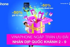 """""""Bão"""" khuyến mãi của VinaPhone chào mừng Quốc khánh"""