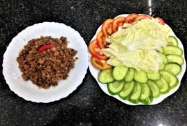 Thịt bằm xào mắm ruốc: Đơn giản lại ngon cơm