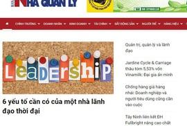 Đình bản 3 tháng Tạp chí điện tử Nhà quản lý và trang Phụ nữ News