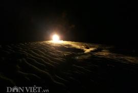 Kỳ thú lao xuống biển đêm săn còng