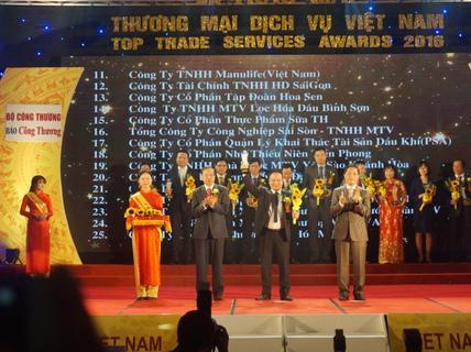"""HD SAISON đạt giải """"thương mại dịch vụ Việt Nam"""""""