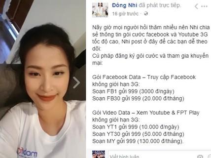 Sao Việt rủ nhau livestream khoe gói 4G MobiFone siêu mượt
