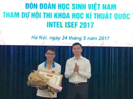 Việt Nam là một trong 3 nước dẫn đầu tại cuộc thi khoa học kỹ thuật quốc tế