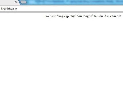 """Website """"xào nấu"""" thông tin khanhhoa.tv đã ngừng hoạt động"""