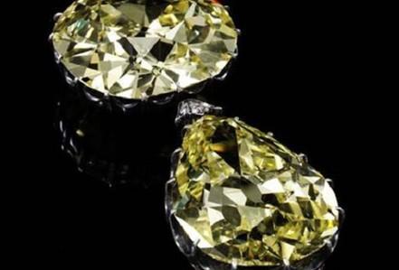 Ngắm hai viên kim cương vàng lớn nhất thế giới đấu giá hôm nay