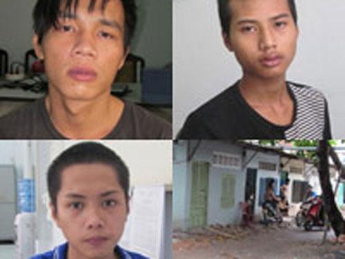 3 trong 5 tên cướp và hiện trường vụ án