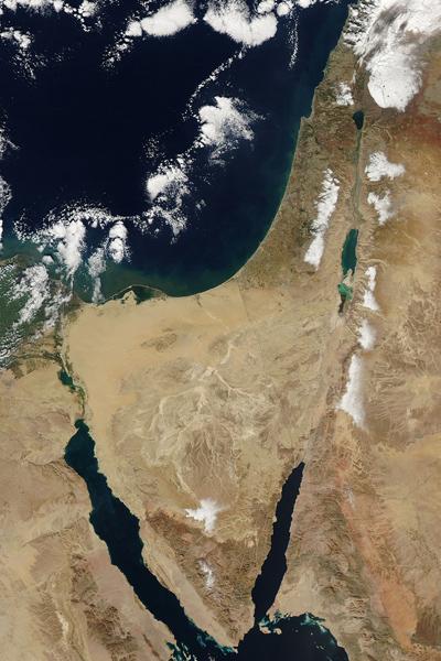 Ảnh tuyết hiếm có ở Trung Đông