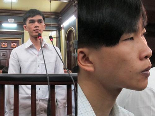 Bị cáo Hồ Duy Trúc (bên trái) và Trần Văn Luông tại tòa