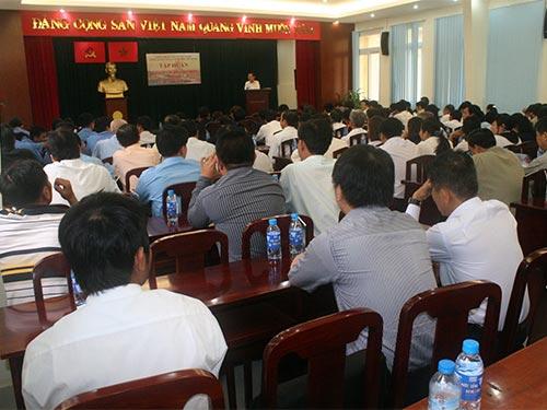 Cán bộ Công đoàn cơ sở Sở Giao thông Vận tải TP HCM tại lớp tập huấn
