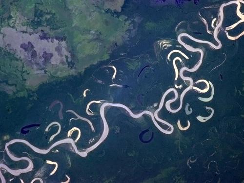 Sông Beni ở miền bắc Bolivia nhìn từ quỹ đạo của trạm ISS