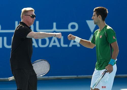 Thầy trò Boris Becker - Novak Djokovic gắn bó thân thiết suốt 3 mùa