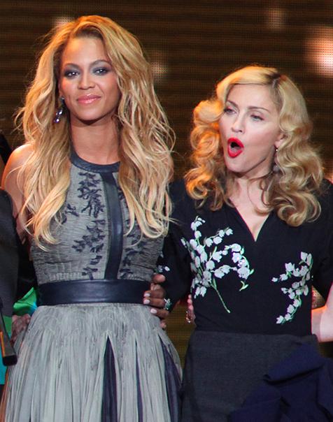 Beyonce và Madonna khá thân thiết